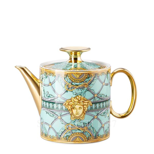 versace tea pot scala del palazzo green