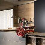 berkel meat slicer volano in kitchen