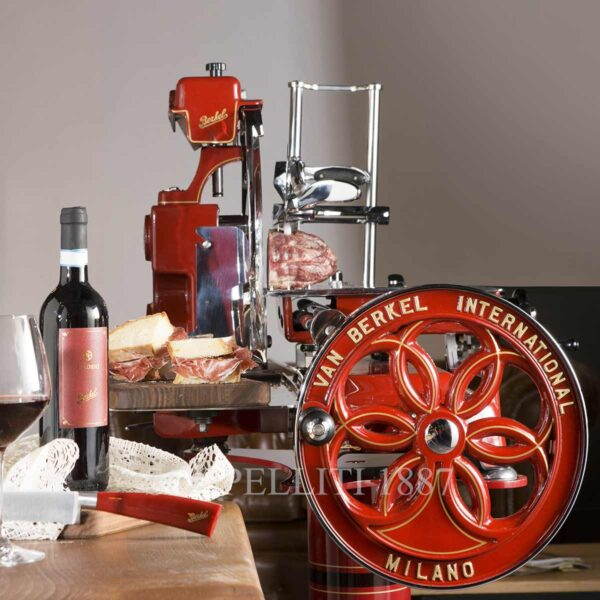 berkel meat slicer volano red with stand