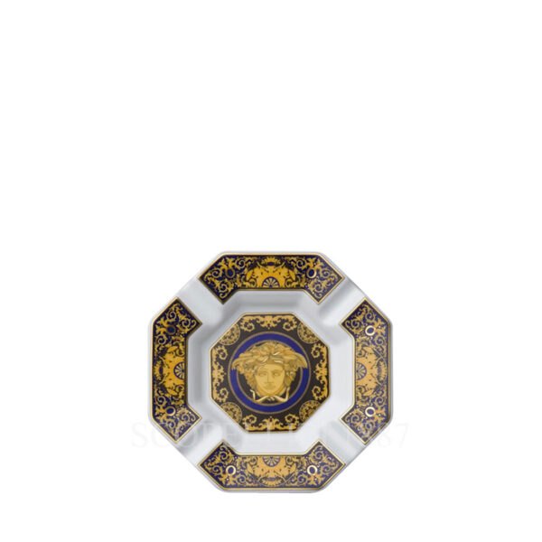 versace ashtray 14 cm medusa blue