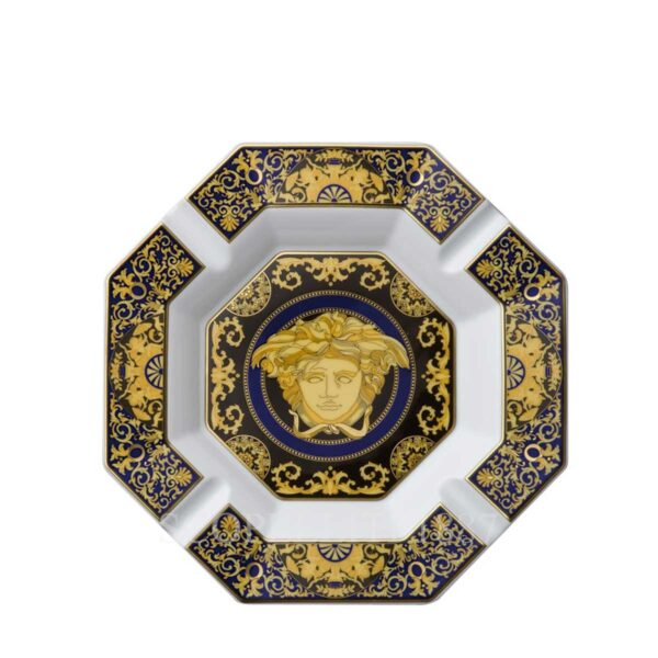 versace ashtray 24 cm medusa blue