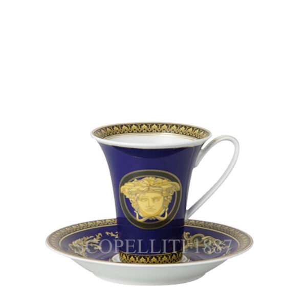 versace coffee cup and saucer medusa blue