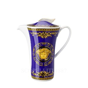 versace coffee pot medusa blue