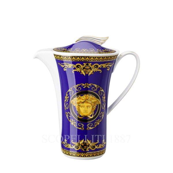 versace coffee pot medusa blue