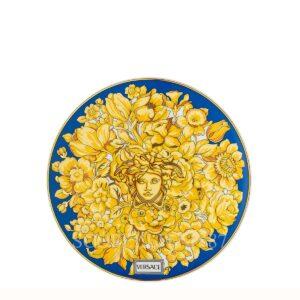 versace plate 17 cm medusa rhapsody blu