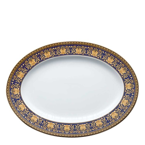 versace platter 34 cm medusa blue