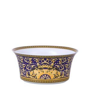 versace salad bowl large medusa blue