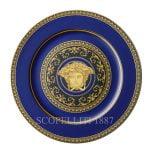 versace service plate 30 cm medusa blue