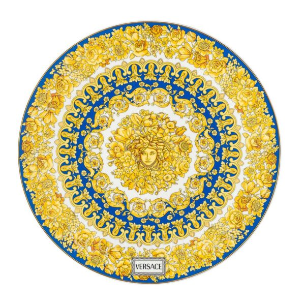 versace service plate 33 cm medusa rhapsody blue