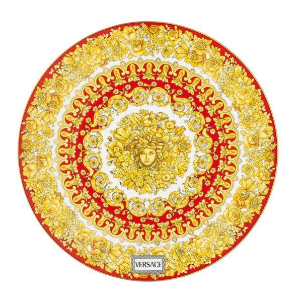 versace service plate 33 cm medusa rhapsody red