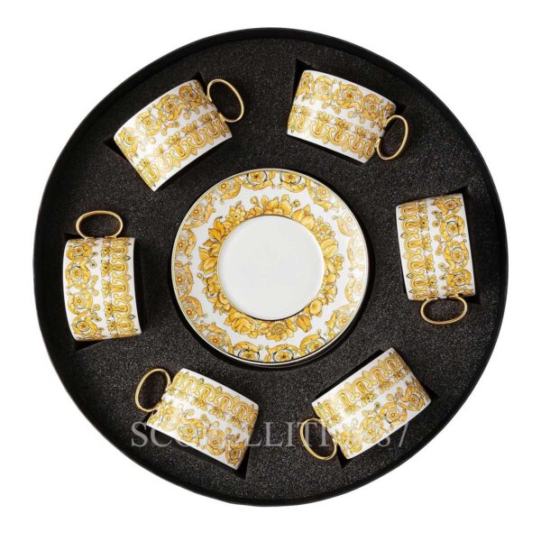 versace set 6 cup and saucer medusa rhapsody