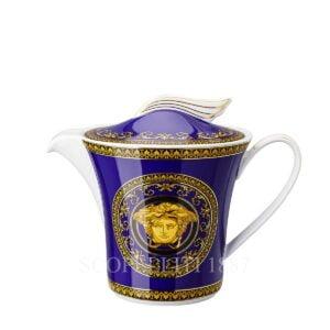 versace teapot medusa blue
