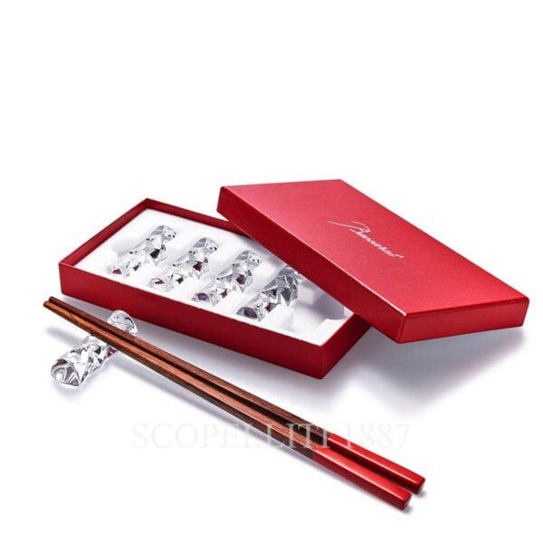 baccarat gift set chopstick holder