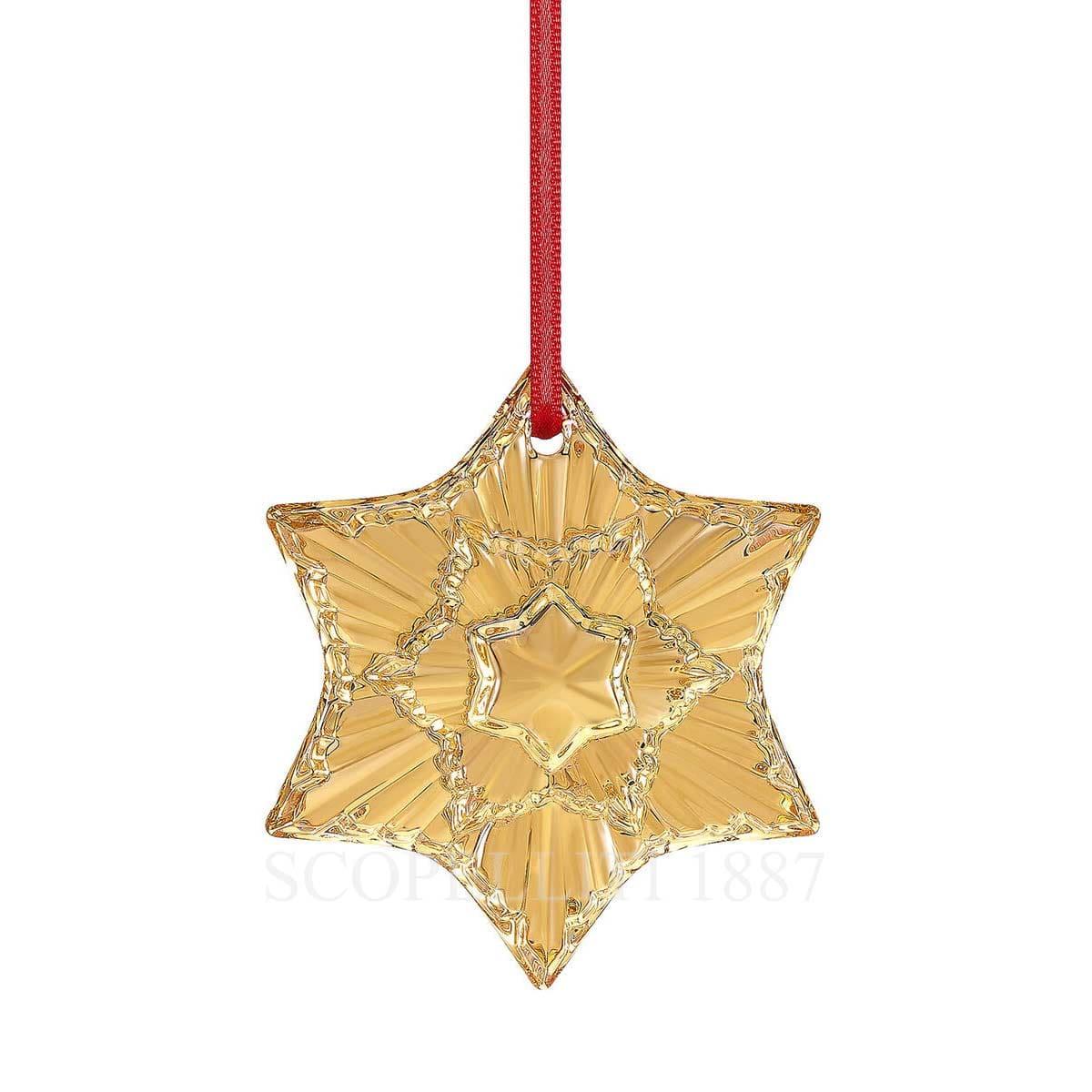 Baccarat 2020 Christmas Ornament Baccarat Annual Ornament 2020 Gold   SCOPELLITI 1887