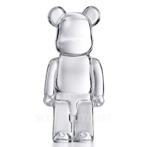 baccarat clear bearbrick sculpture