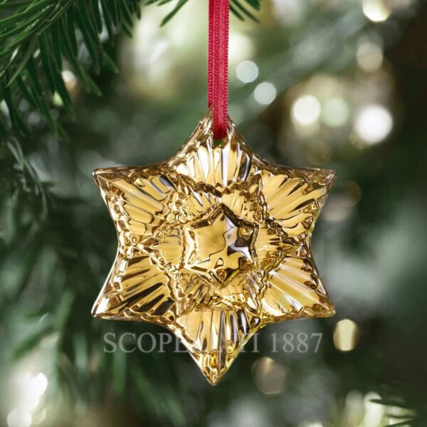 baccarat christmas ornament 2020 gold