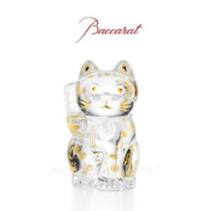 baccarat maneko cat limited edition clear sculpture