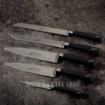 berkel gift block with 5 knives black leather