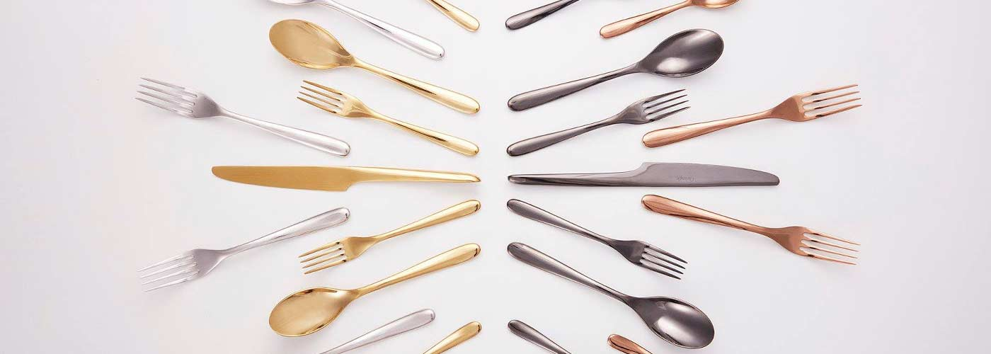 christofle coloured cutlery l ame