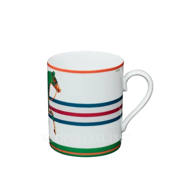 Hermes Cheval la Couverture Green Mug Limited Edition