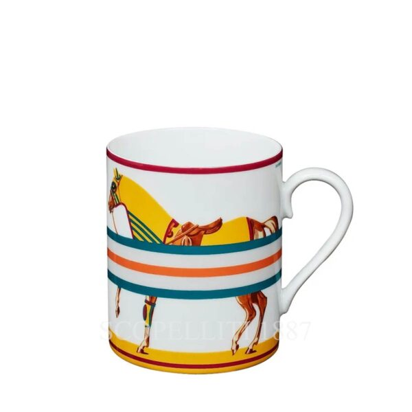 Hermes Cheval la Couverture yellow Mug Limited Edition
