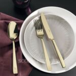 sambonet cutlery champagne gold color