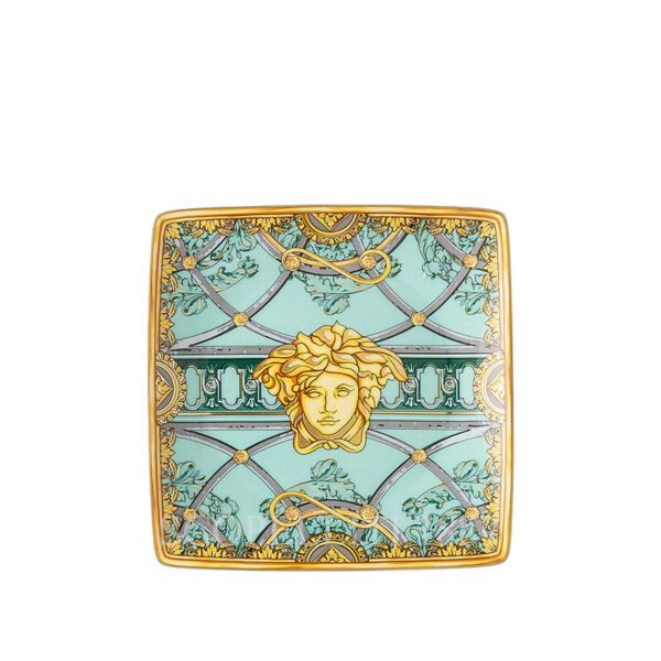 versace bowl 12 cm square flat scala palazzo green