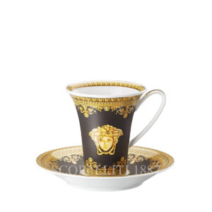 versace coffee cup baroque black