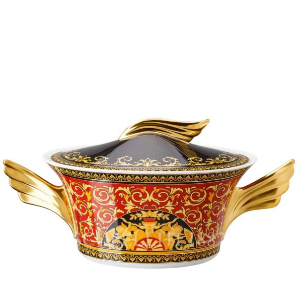 versace covered vegetable bowl medusa