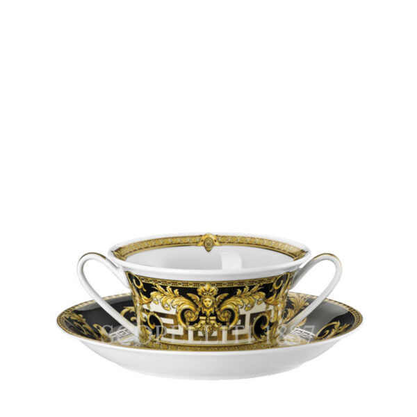 versace creamsoup cup and saucer prestige gala