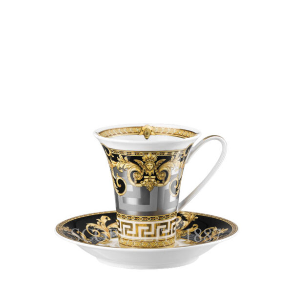 versace cup and saucer 4 tall prestige gala