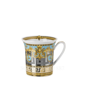 versace mug with handle prestige gala bleu