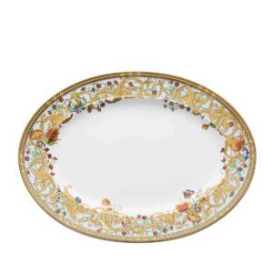 versace oval platter 34 cm le jardin de versace