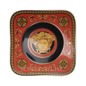 versace plate 14 cm square medusa