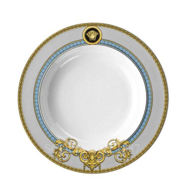 versace plate 22 cm deep prestige gala bleu