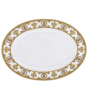 versace platter 34 cm baroque white