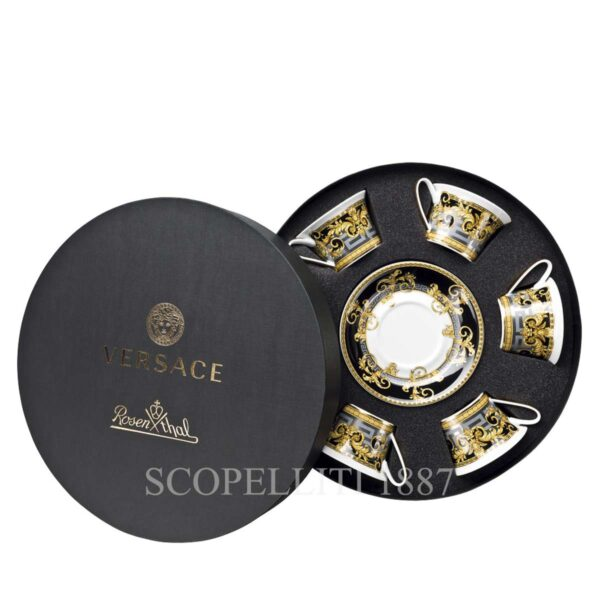 versace set 6 cup and saucer 4 low prestige gala