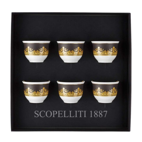 versace gift set 6 small mugs i love baroque