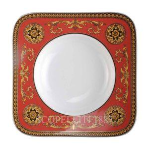 versace soup plate 23 square medusa