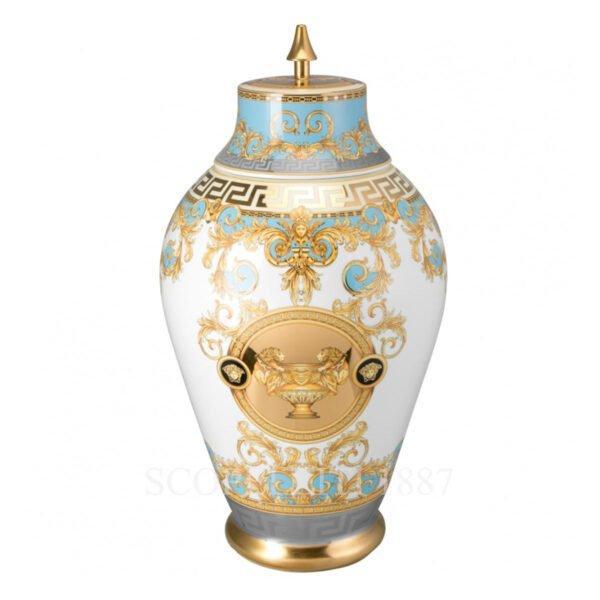 versace vase with lid 76 cm prestige gala bleu