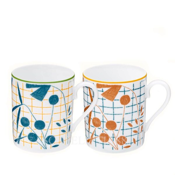 hermes a walk in the garden 2 mugs gift set