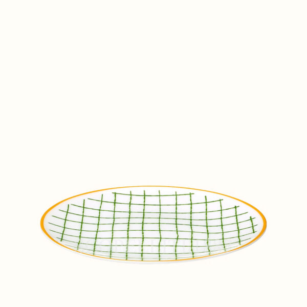 hermes a walk in the garden bread and butter plate green 14 cm 02