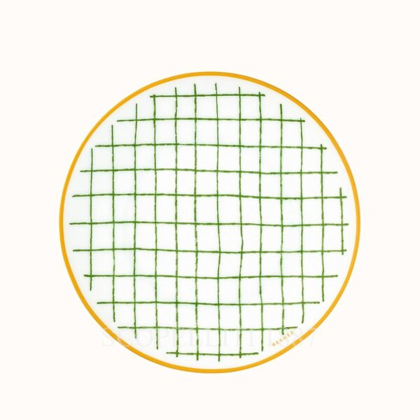 hermes a walk in the garden bread and butter plate green 14 cm