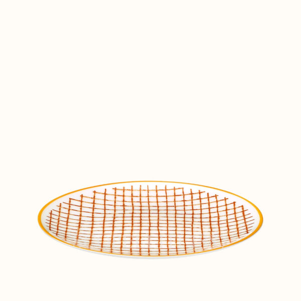 hermes a walk in the garden bread and butter plate orange 14 cm 02