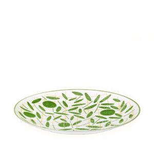 hermes a walk in the garden dessert plate green 21 cm 01