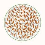 hermes a walk in the garden dessert plate orange 21 cm