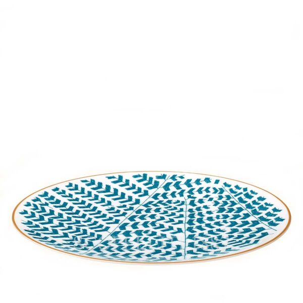hermes a walk in the garden dinner plate blue 27 cm 02