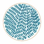 hermes a walk in the garden dinner plate blue 27 cm
