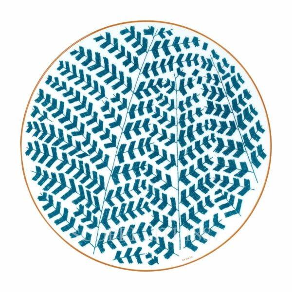 hermes a walk in the garden dinner plate blue 27 cm