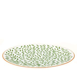 hermes a walk in the garden dinner plate green 27 cm 02